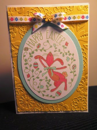 Cute Easter card zena kennedy independant stampin up demonstrator
