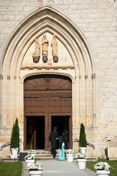 Entrada a la Iglesia, decoracion margaritas