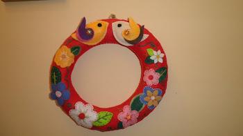 Guirlanda Flores e passarinhos