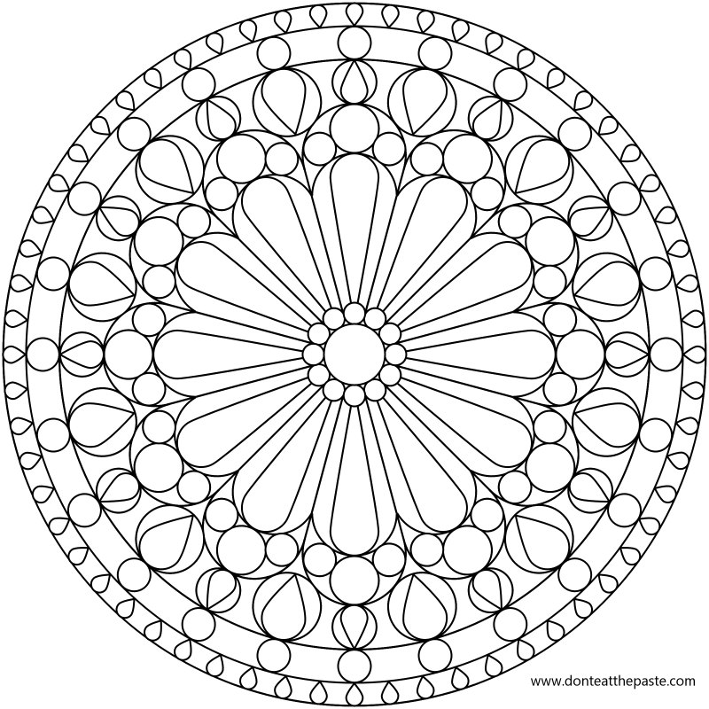Don 39 t eat the paste rose windows mandala coloring pages for Rose window design