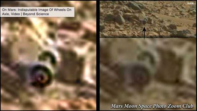 Curiosity Rover Finds Wheels On Mars: Remains Of  An Ancient Civilization?