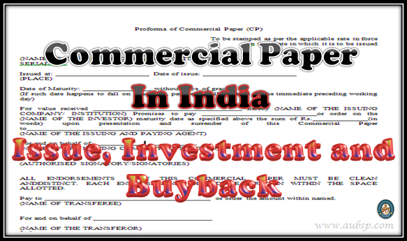 commercial paper short term bank borrowing
