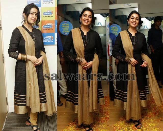 Charmi Black Tusser Silk Salwar