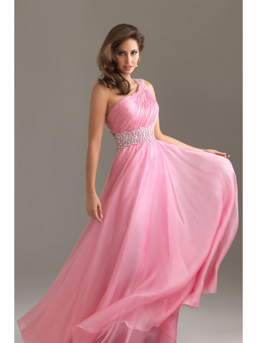 Party Dress with Pink Makeup