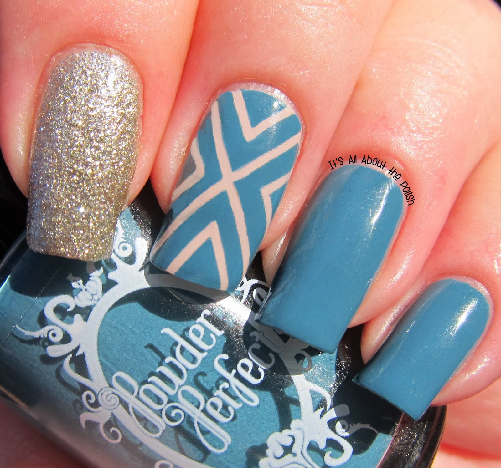 It\'s all about the polish: X nail design featuring Powder Perfect ...