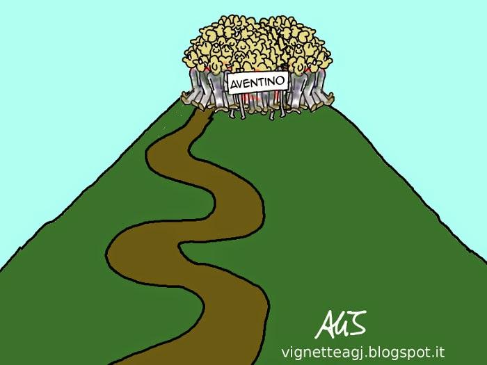 Italicum, aventino, opposizione, satira, vignetta