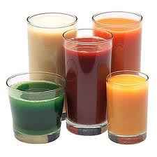 Glasses of Raw Juice
