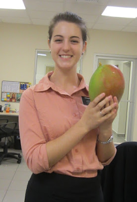 Look at this ginormous mango!