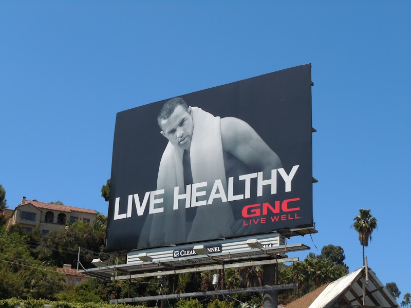 Live Healthy GNC billboard