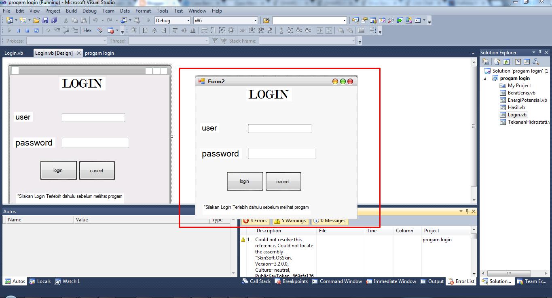 Cara Membuat Form Login Tanpa Database Dengan Visual Basic 2010