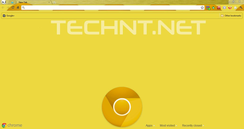 تغيير الشعار الحالي الى الشعار الذهبي لمتصفح جوجل كروم - التقنية نت - technt.net