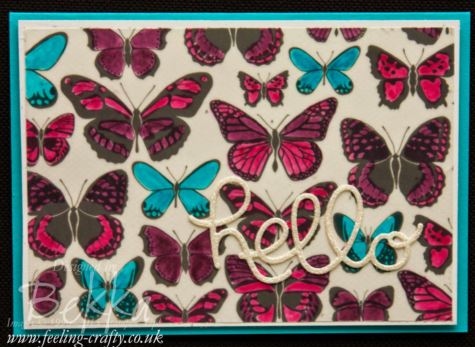 Beautiful Coloured Sheer Perfection Vellum Butterflies - and a secret crafting weapon for sticking vellum and much more!
