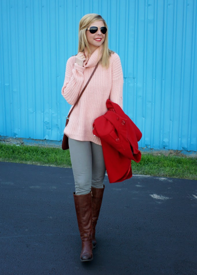 Blush pink sweater - because shanna said so