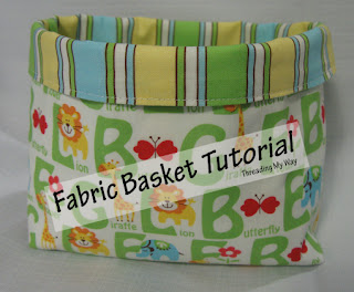 Fabric Basket Tutorial... Super Quick And Easy To Make, These Baskets Can  Be Used For Both Storage And Gift Giving.