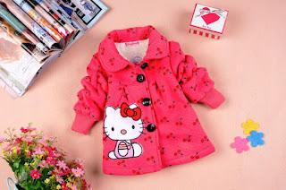 Model Jaket Hello Kitty Lucu Warna Pink Untuk Anak Perempuan
