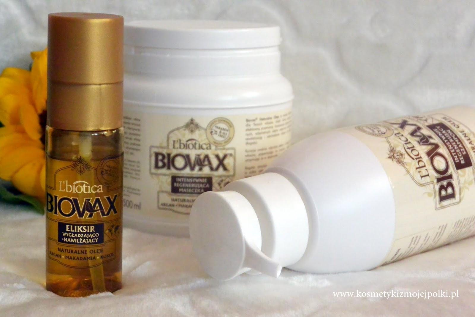 Intensywna regeneracja włosów z BIOVAX L'Biotica Naturalne Oleje Argan Makadamia Kokos