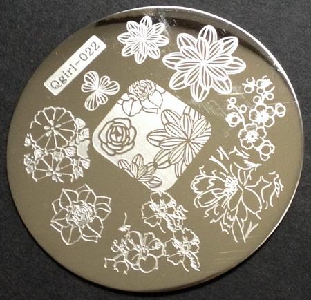 QGirl 022 nail stamping plate