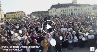 Bihon.ro: Mii de orădeni au participat sâmbătă la Marşul pentru Viaţă (VIDEO)