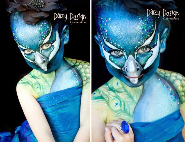 face decorations, body paintings