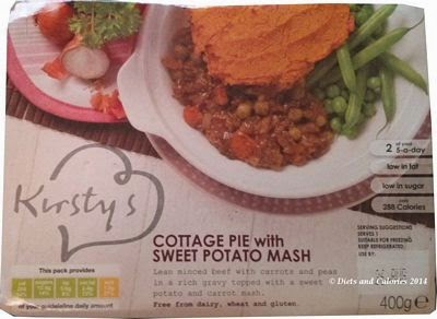 Kirstys cottage pie with sweet potato mash