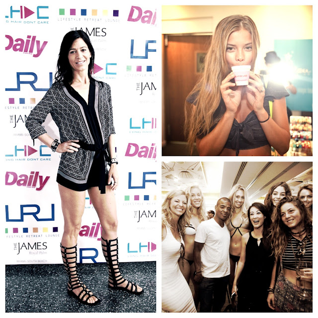 Perrey Reeves made an appearance along with Supermodels Nina Agdal and Julie Henderson at the Lifestyle Retreat Lounge