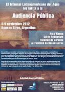 TRIBUNAL LATINOAMERICANO DEL AGUA. 6ª AUDIENCIA PÚBLICA invitaciã³n