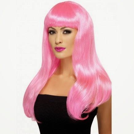 Peluca sexy rosa