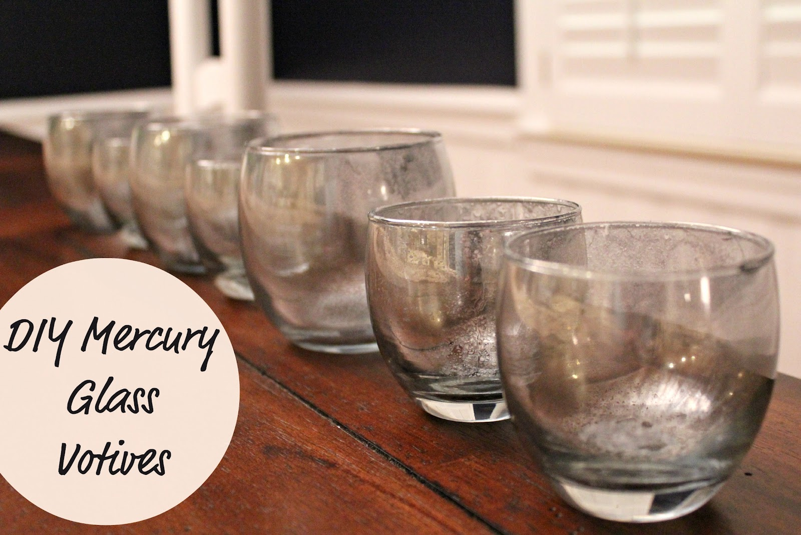 diy mercury glass votives - How To Make Mercury Glass