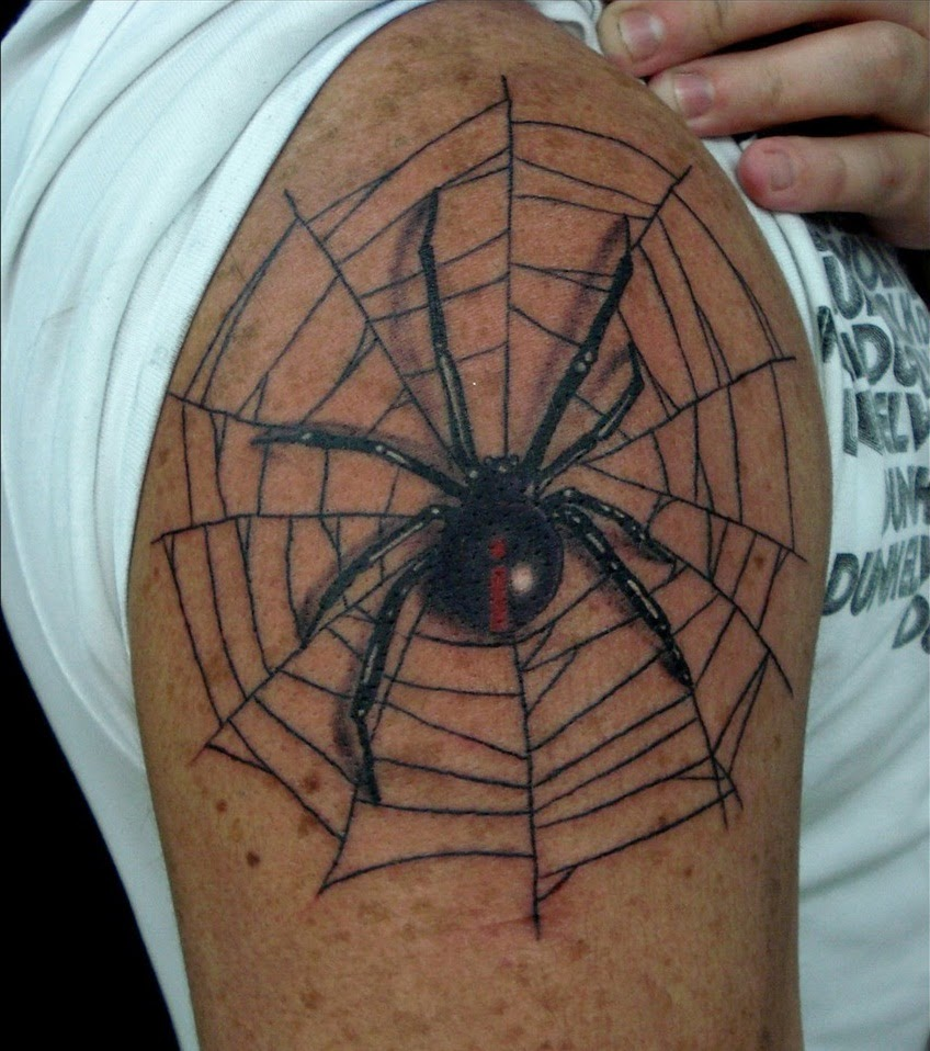 tattoo gallery for men spider web tattoos. Black Bedroom Furniture Sets. Home Design Ideas