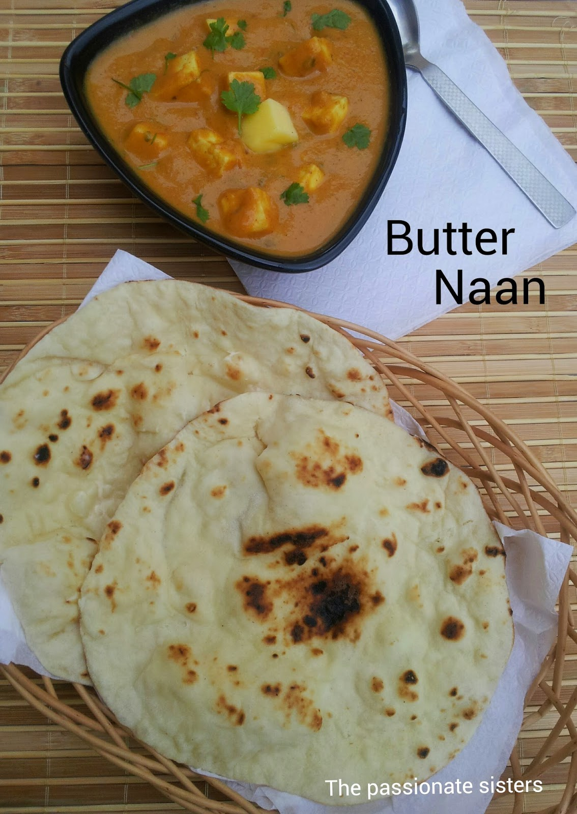 Butter Naan Without Yeast / oven