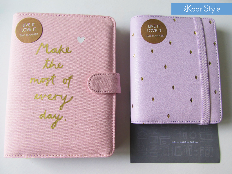 Koori KooriStyle Kawaii Cute Customizable Planner Kikki KikkiK Stationery Agenda Journal Leather Diamond Gold Lilac Pink Small Medium