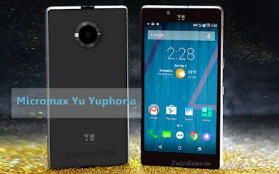 Yu Yuphoria: 5 inch HD,1.2GHz Quad-core Android Phone Specs, Price