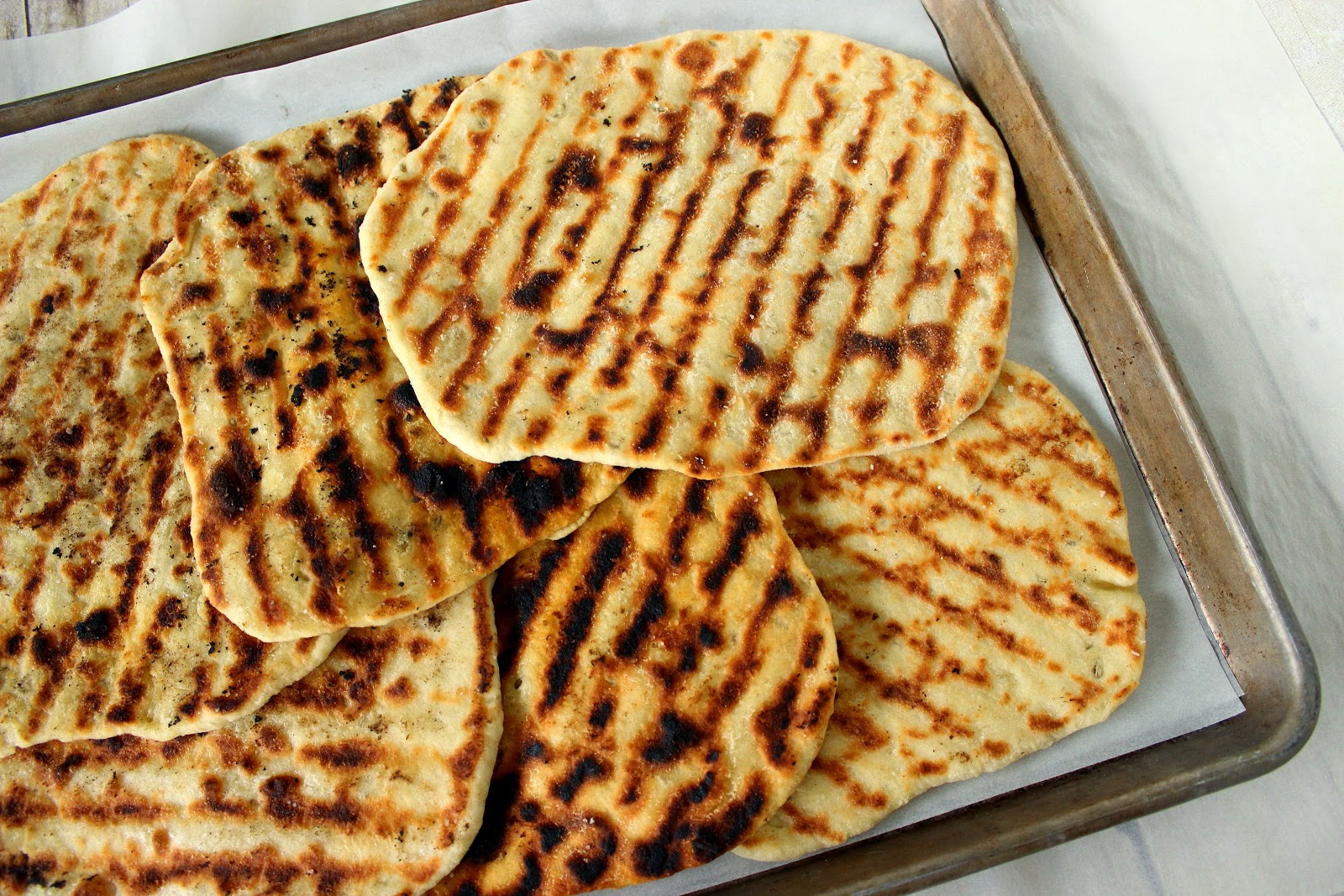 Grilled Indian Naan Bread Recipe