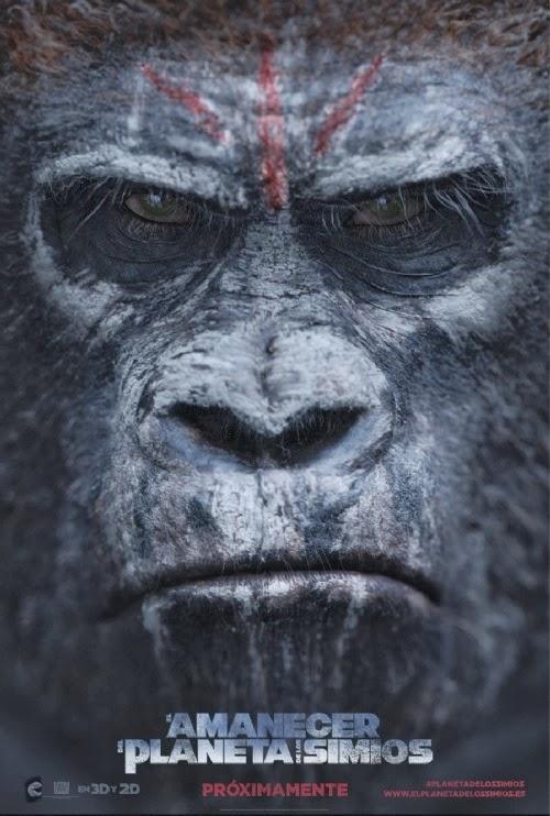 El amanecer del Planeta de los Simios: posters en español