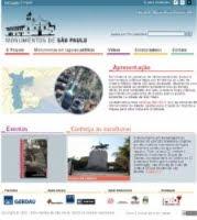 """site """"Monumentos de São Paulo"""""""