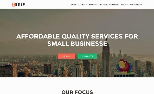 Zerif Lite - Free One Page WordPress Theme