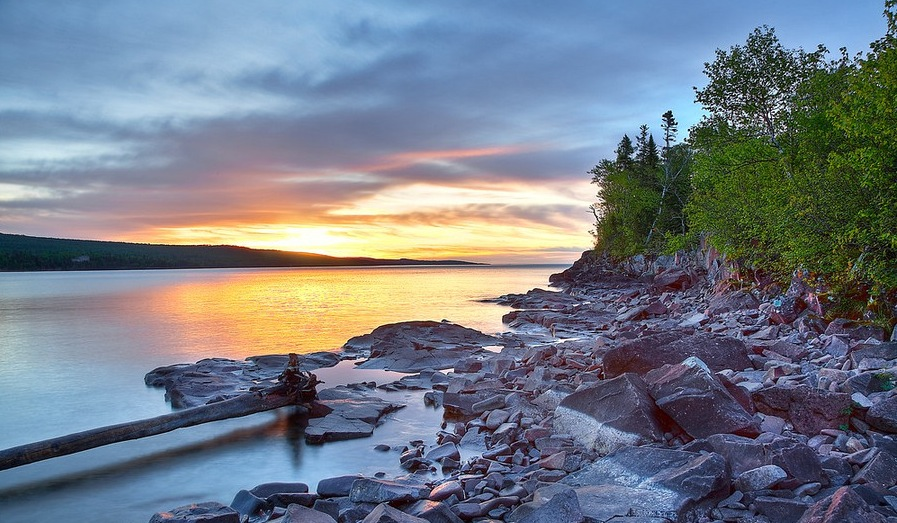 Artists Point Popular Artistic Area Of Minnesota Located In Grand Marais Harbor On North Shore Of Lake Superior