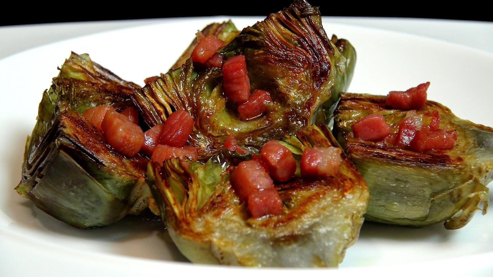Cocinar para los amigos alcachofas a la plancha for Cocinar alcachofas