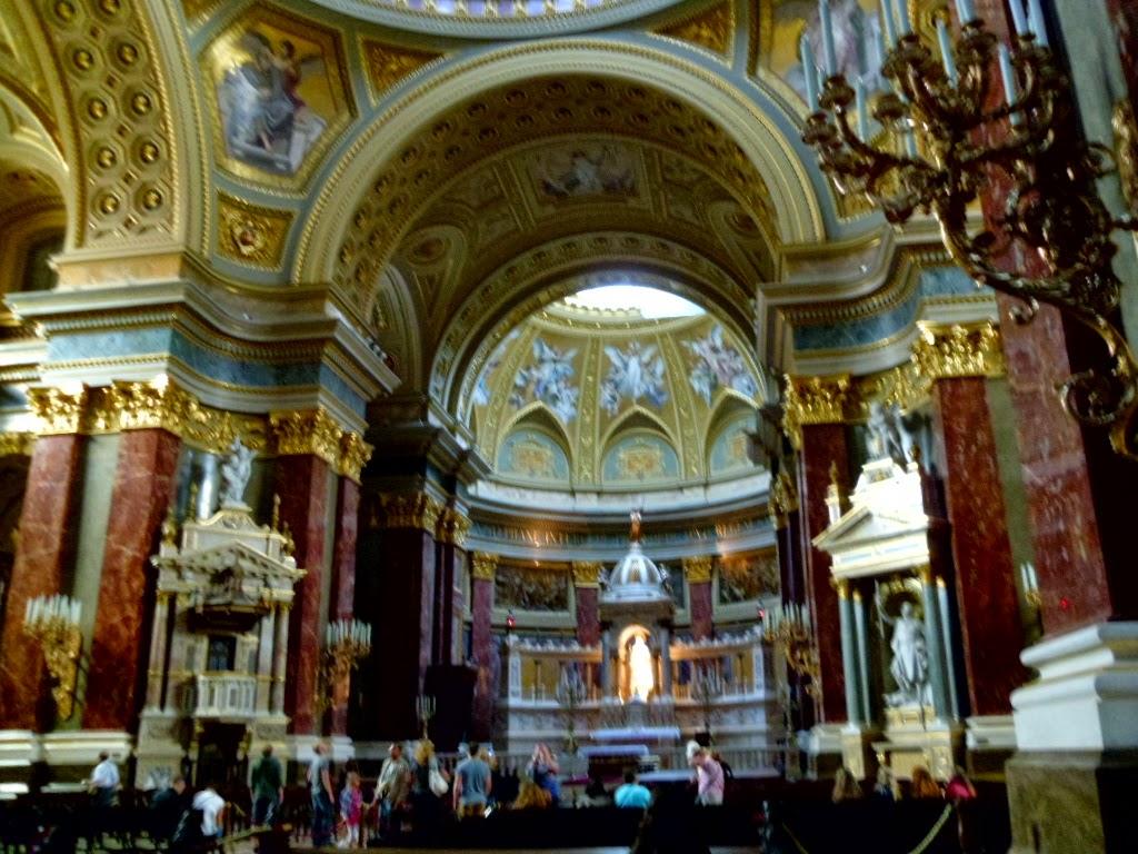 Interior da Basílica de Santo Estevão Budapeste