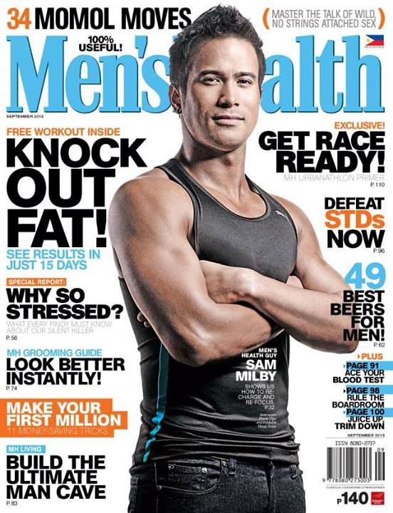 Sam Milby is Men's Health Cover Guy for September 2013