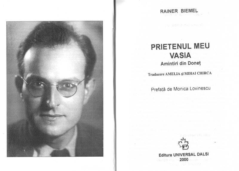 Rainer Biemel - Prietenul meu Vasia