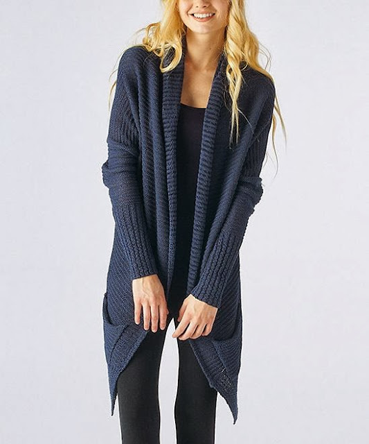Oversized Blue Cardigan