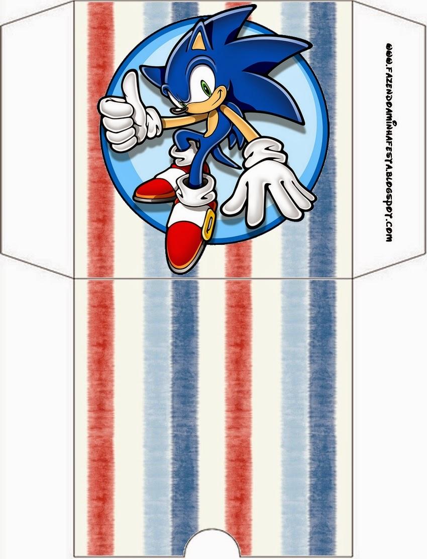 Funda de Sonic para CD's para imprimir gratis.