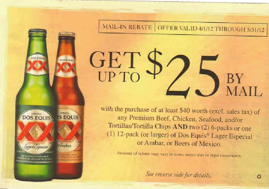 graphic relating to Beer Coupons Printable identified as Printable Discount codes: Dos Equis Beer Rebate - $25 upon Beef