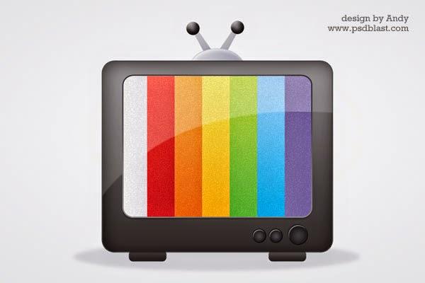 Glossy Media Icon PSD