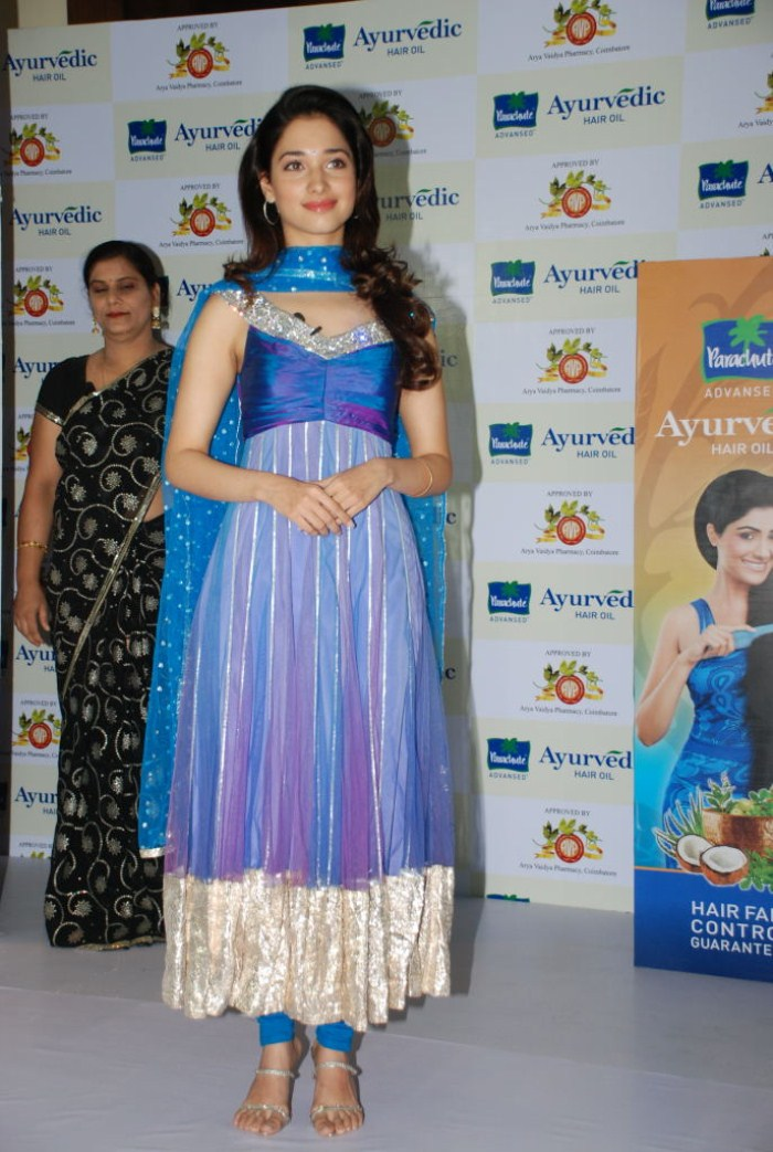Tamanna Launches Ayurvedic Hair Oil Event Stills Photos