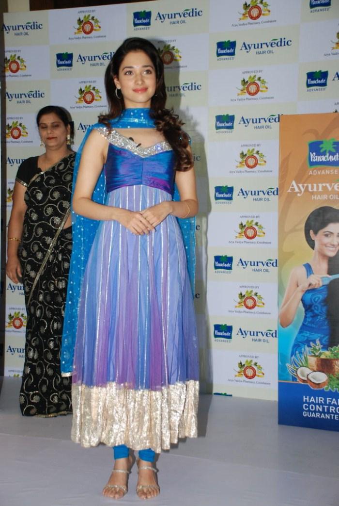 Tamanna Launches Ayurvedic Hair Oil Event Stills Photos