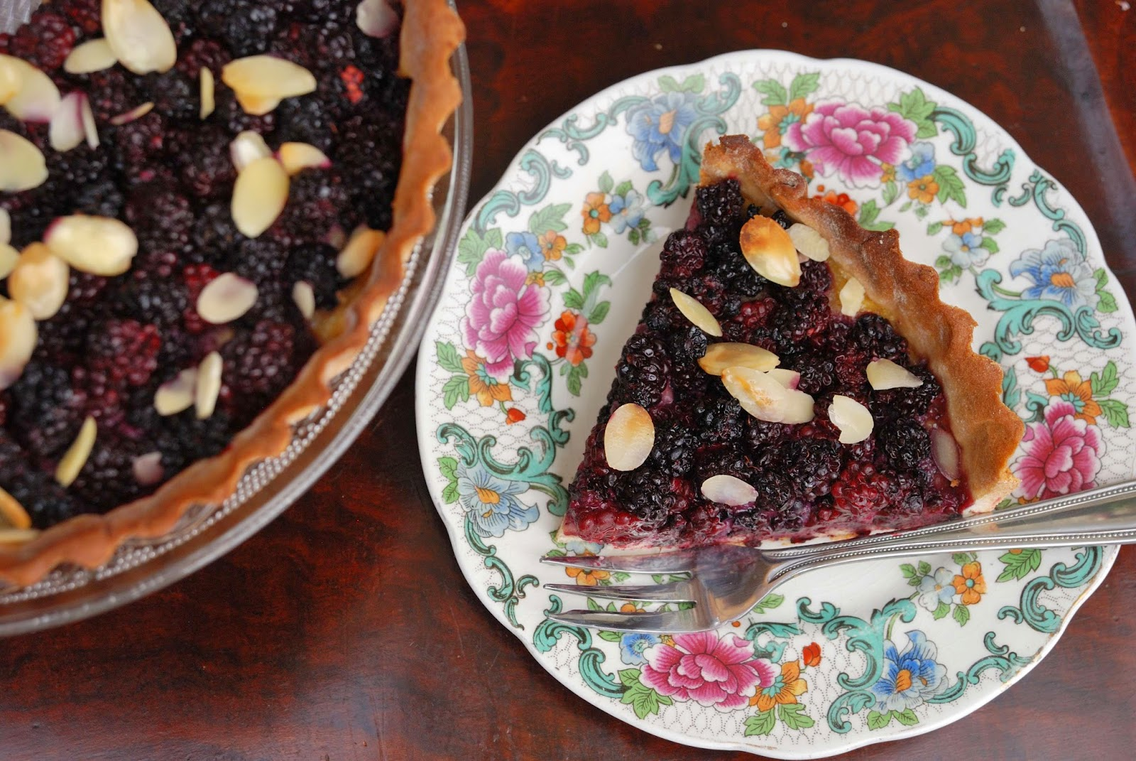 recette facile tarte aux mures et aux amandes