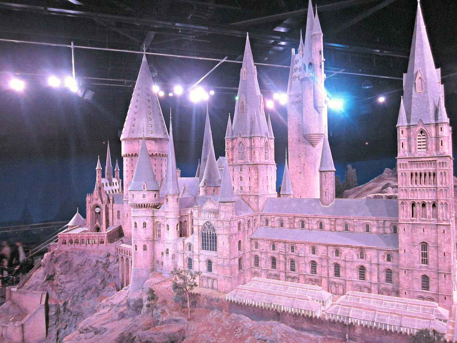 Hogwarts Model at The Making Of Harry Potter Warner Brothers Studio Tour