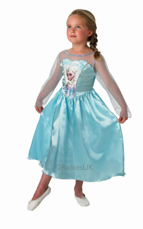 DISFRAZ - DISNEY Frozen   Disfraz infantil de Elsa clásico | Rubie`s 889542-L   Disponible varias tallas | Talla L : 7-8 años